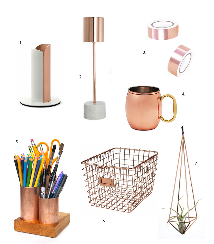 Copper Desk Accessories