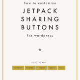 Customize Jetpack Sharing Buttons for Wordpress