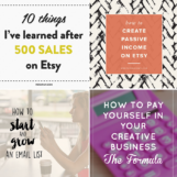 Resources for Etsy Shop Owners | Etsy Tips | The Blog Market