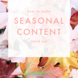 How to Make Seasonal Content Stand Out | The Blog Market