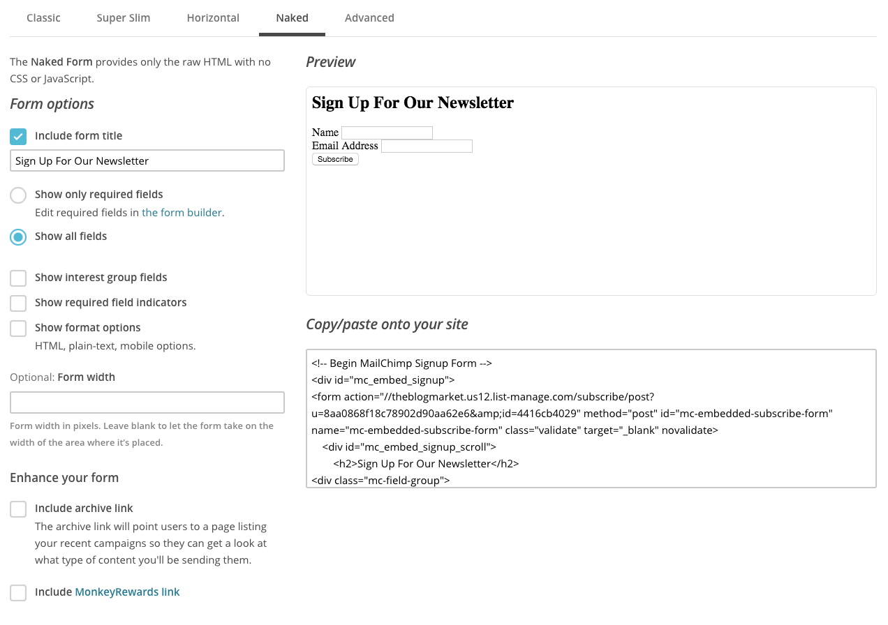 How to Customize Your MailChimp Sidebar Opt-in Form - The Blog Market