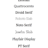 Best Serif Google Web Fonts For Your Blog | The Blog Market
