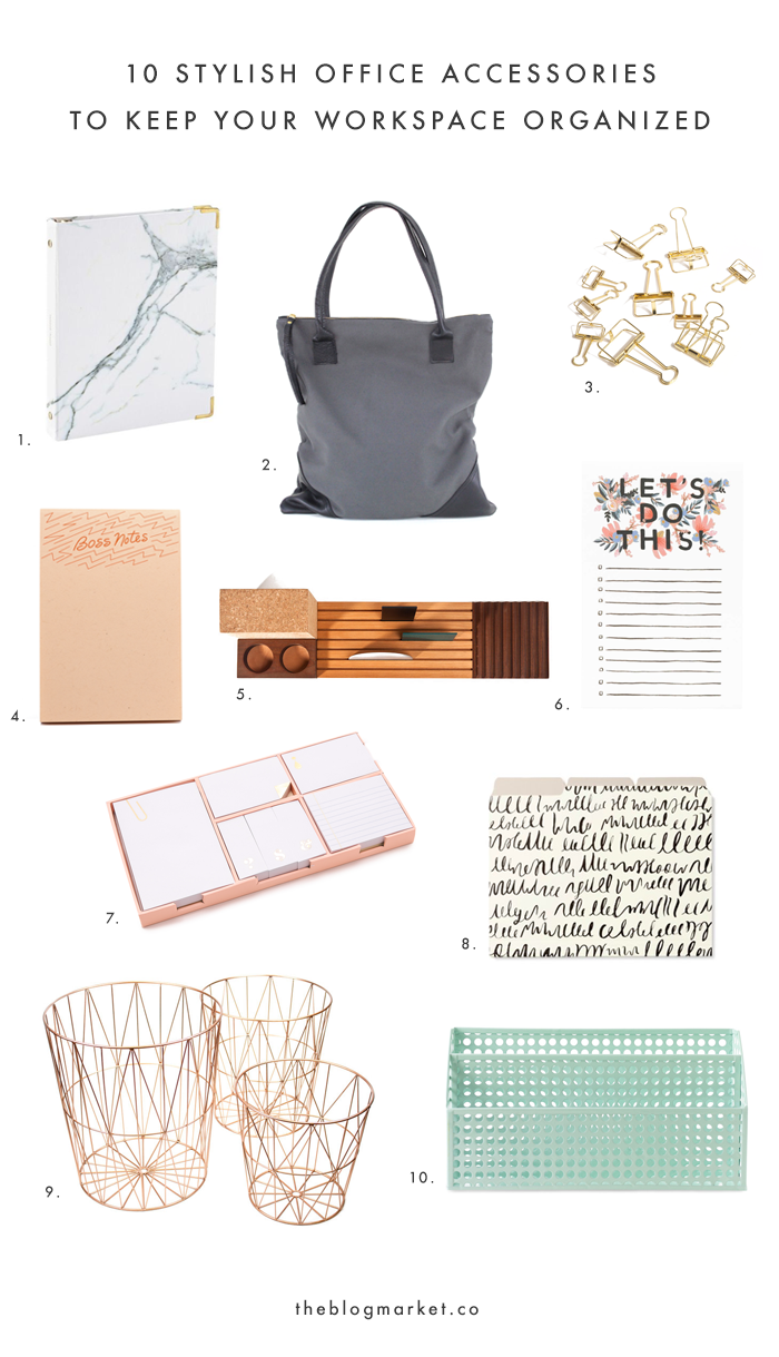 Stylish Office Accessories To Keep Your Workspace Organized | The Blog  Market