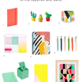 Bright + Mismatched Office Decor | The Blog Market