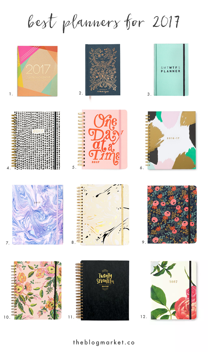 2017 planners best weekly monthly agendas for Planner co