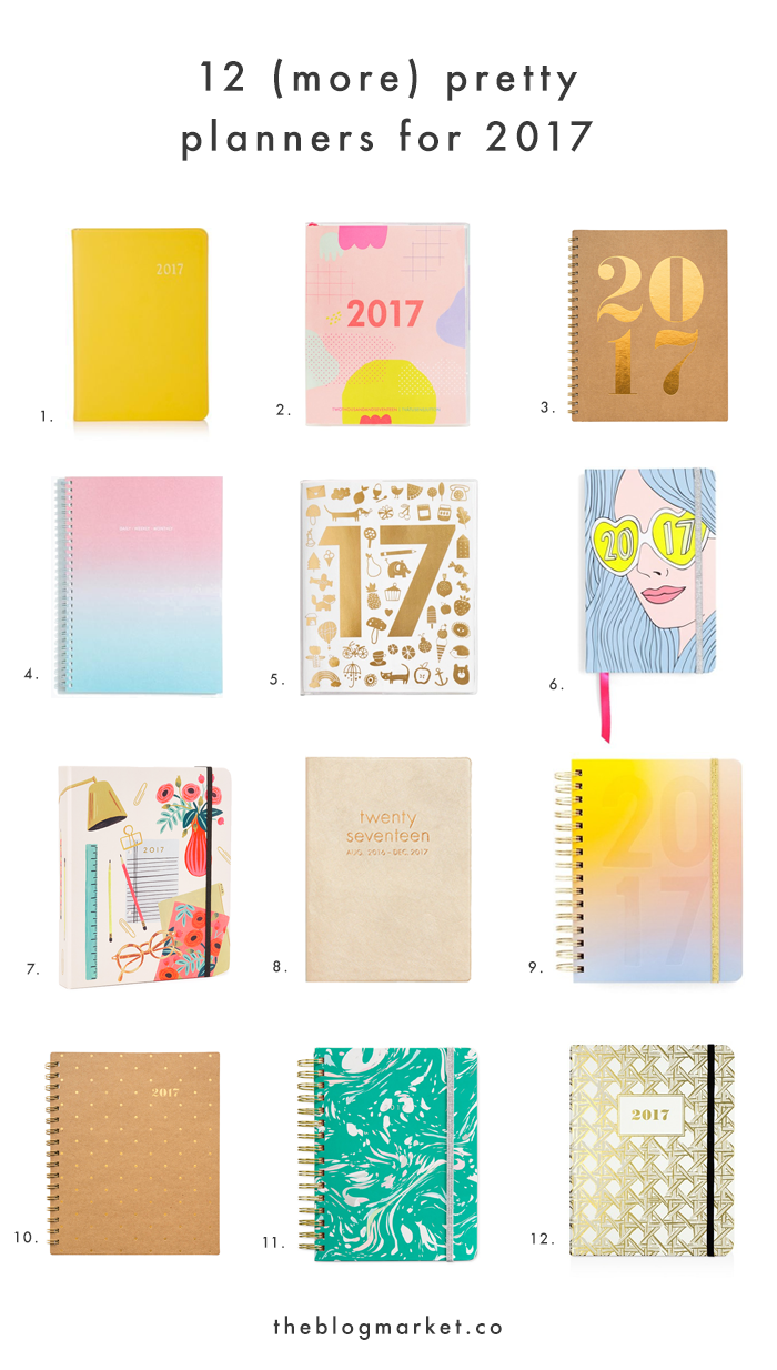 12 of the Prettiest 2017 Planners | The Blog Market