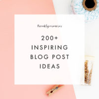 200+ Blog Post Ideas - The Blog Market