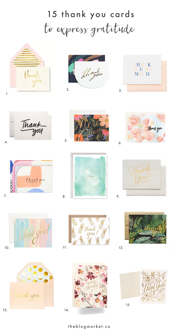 Express gratitude this year with these cute thank you notes!