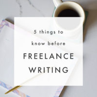 5 Things to Know Before Getting into Freelance Writing