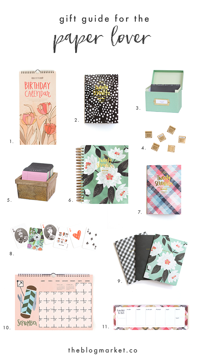 Paper Lover Gift Guide + GIVEAWAY - The Blog Market