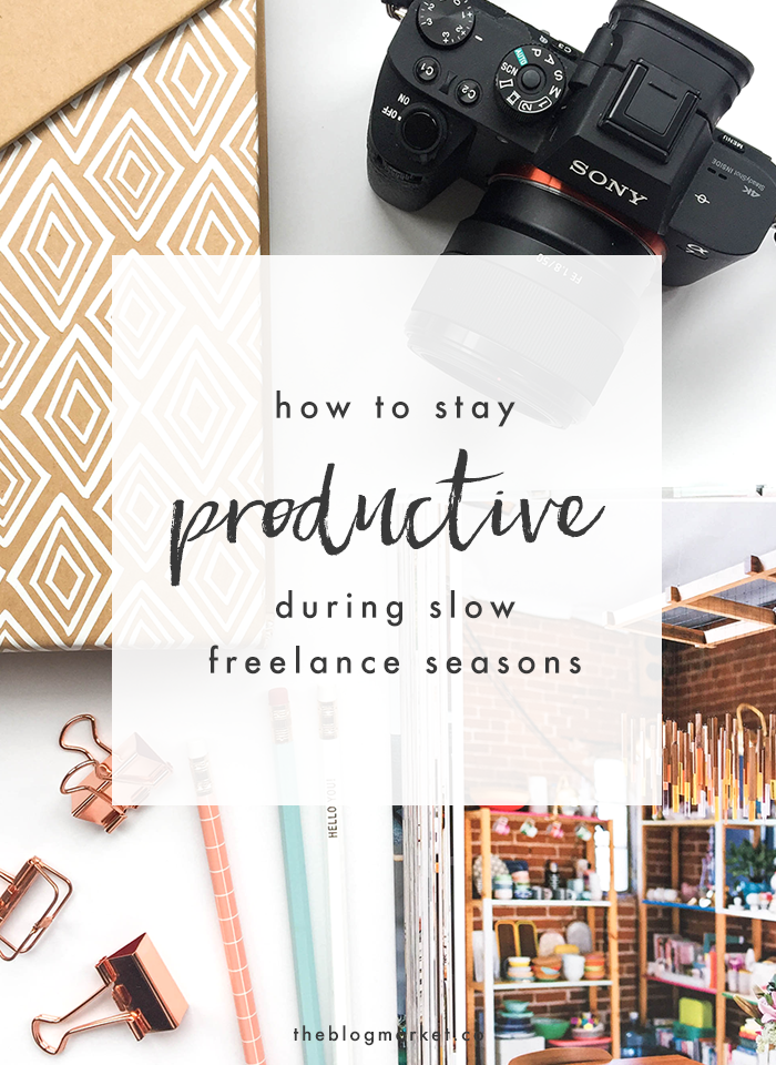 How to Stay Productive During Slow Freelance Seasons