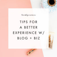 Weekly Resources | Tips for Blogging or Biz On Your Own Terms