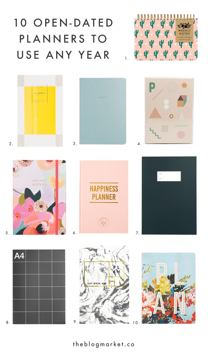 10 Open-Dated, Anytime Planners