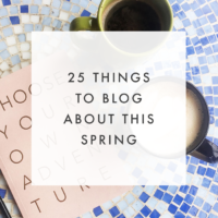 25 Spring Blog Post Ideas