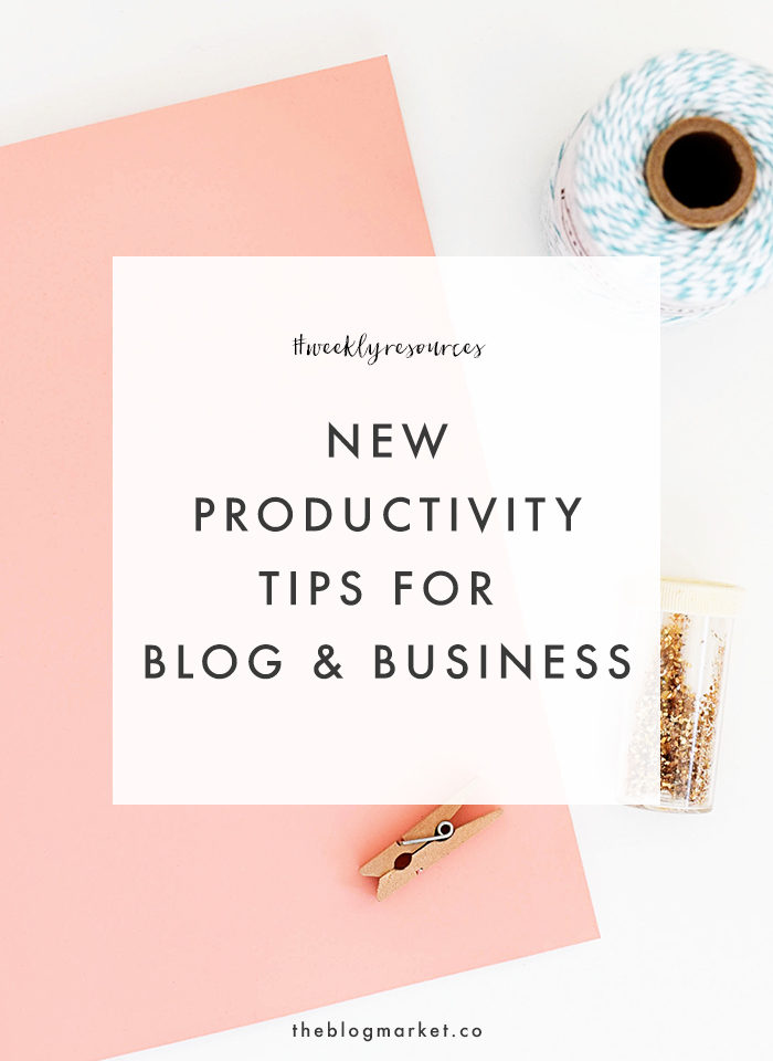Blog Productivity Tips - The Blog Market