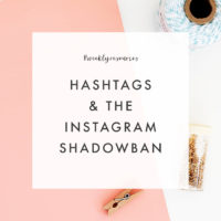 Weekly Resources | The Instagram Shadowban