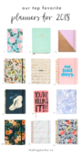 12 Prettiest Planners for 2018