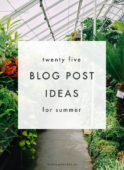 25 summer blog post ideas - the blog market