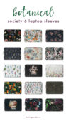 Botanical Laptop Sleeves from Society6 - The Blog Market