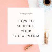 Weekly Resources | When & How to Schedule Social Media