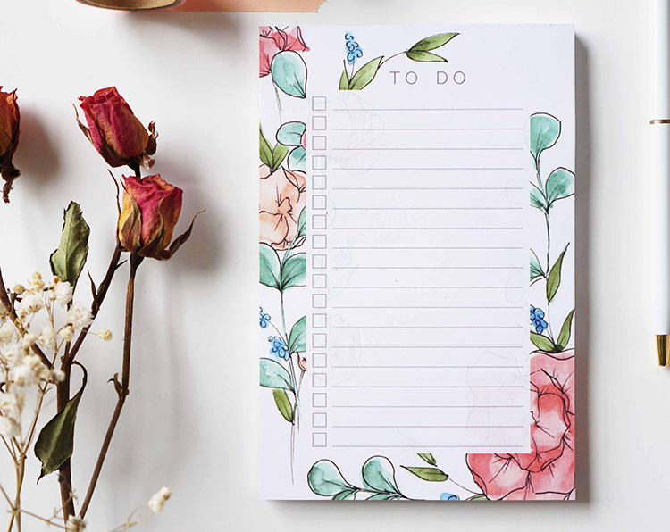 Floral To-Do List Notepad by ginably via The Blog Market