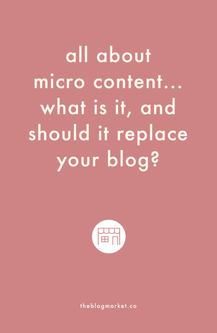 What is Micro Content and how does it affect your blog? via The Blog Market