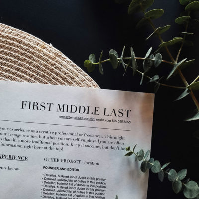 How to update your resume as a freelancer via The Blog Market