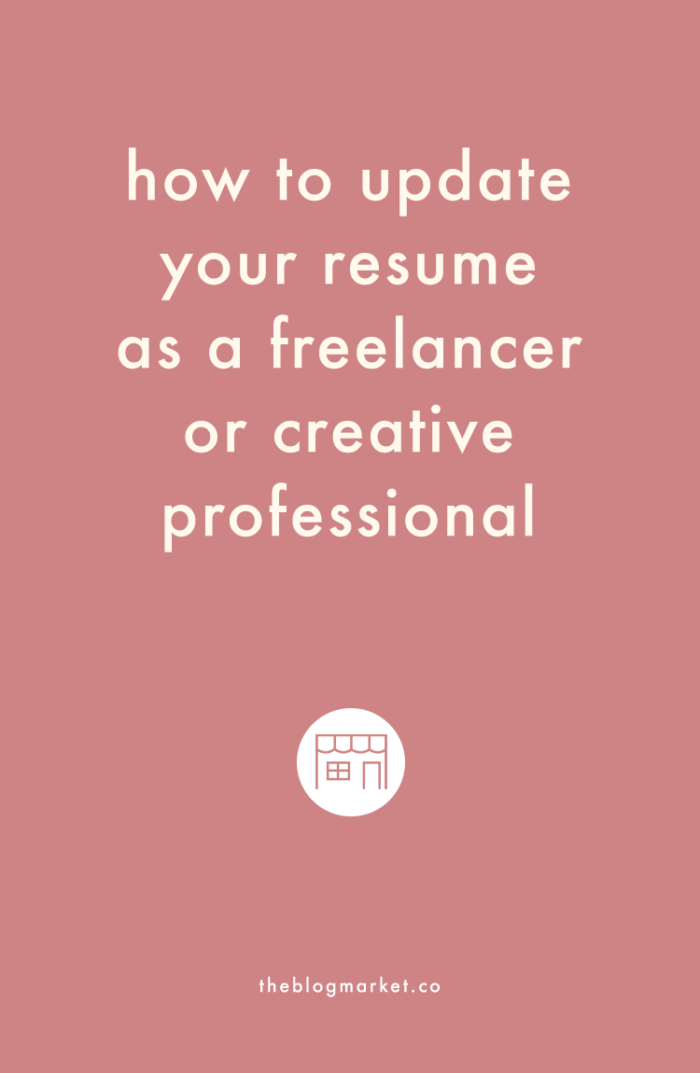 how to update your resume as a freelancer or creative