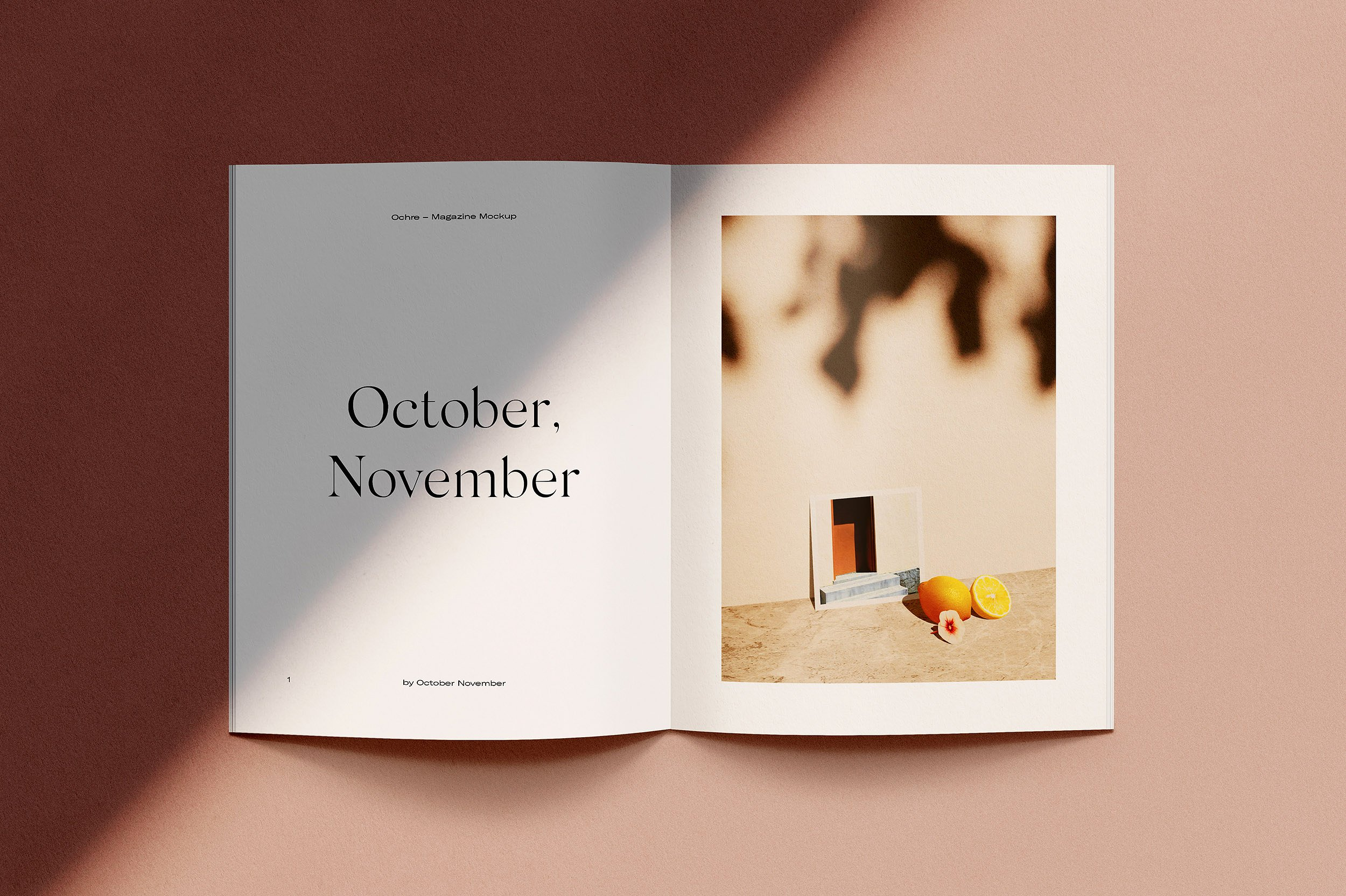 Ochre – Magazine Mockups by October November