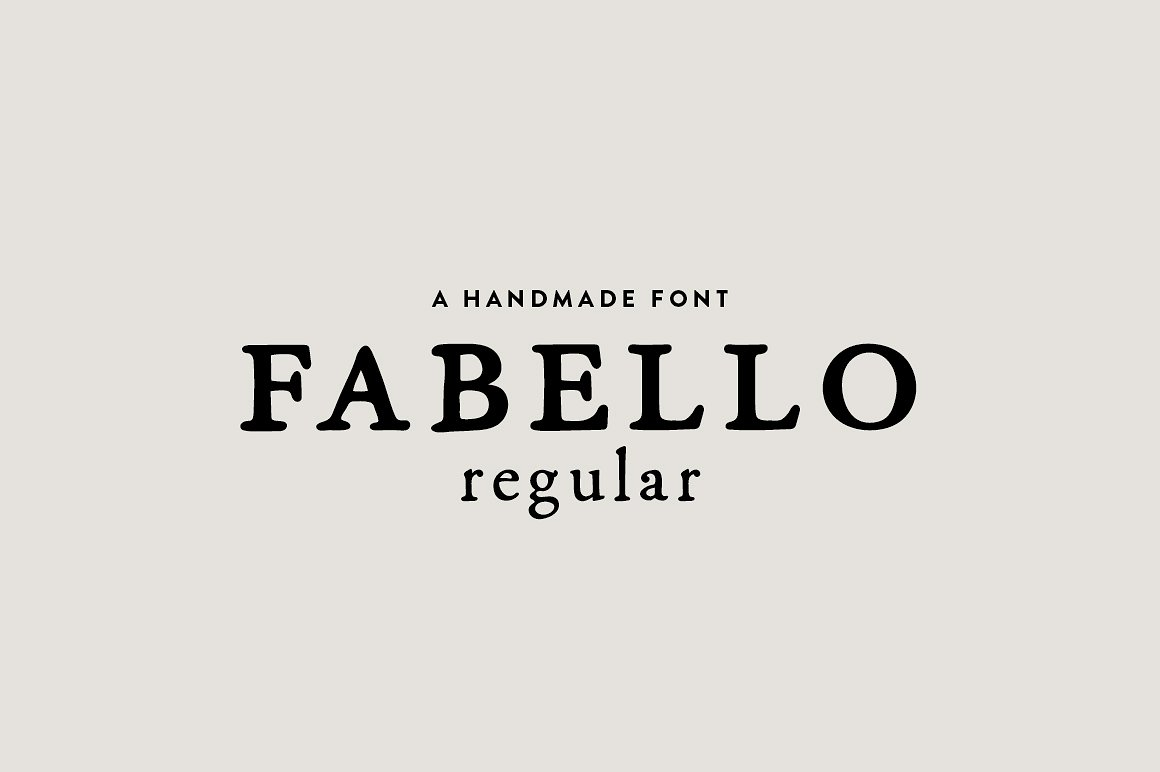 Fabello Regular / hand lettered font by Britt Fabello