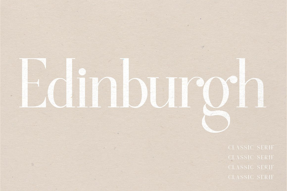Edinburgh | A Classic Serif by Jen Wagner Co