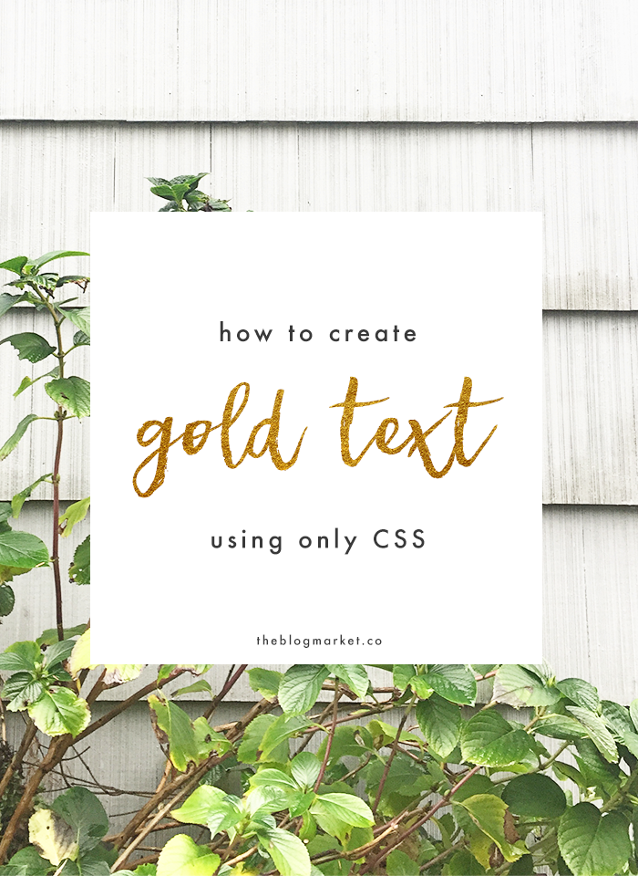Create Gold Foil Text with Only CSS
