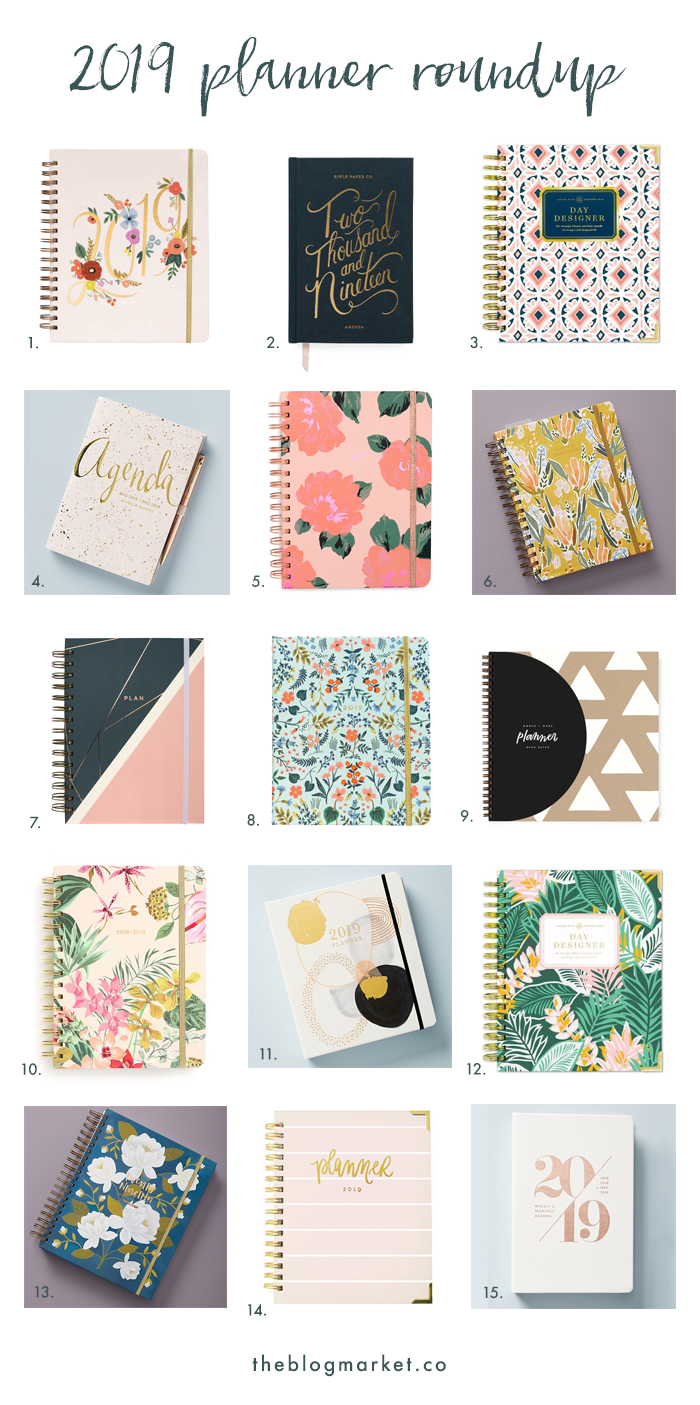 Best 2019 Planners Best 2018 2019 Planners for Creatives   The Blog Market