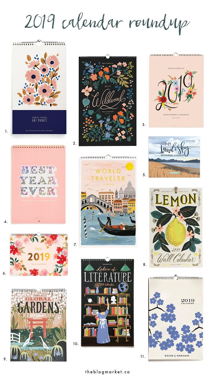 Best Calendars 2019 Best 2019 Wall Calendars