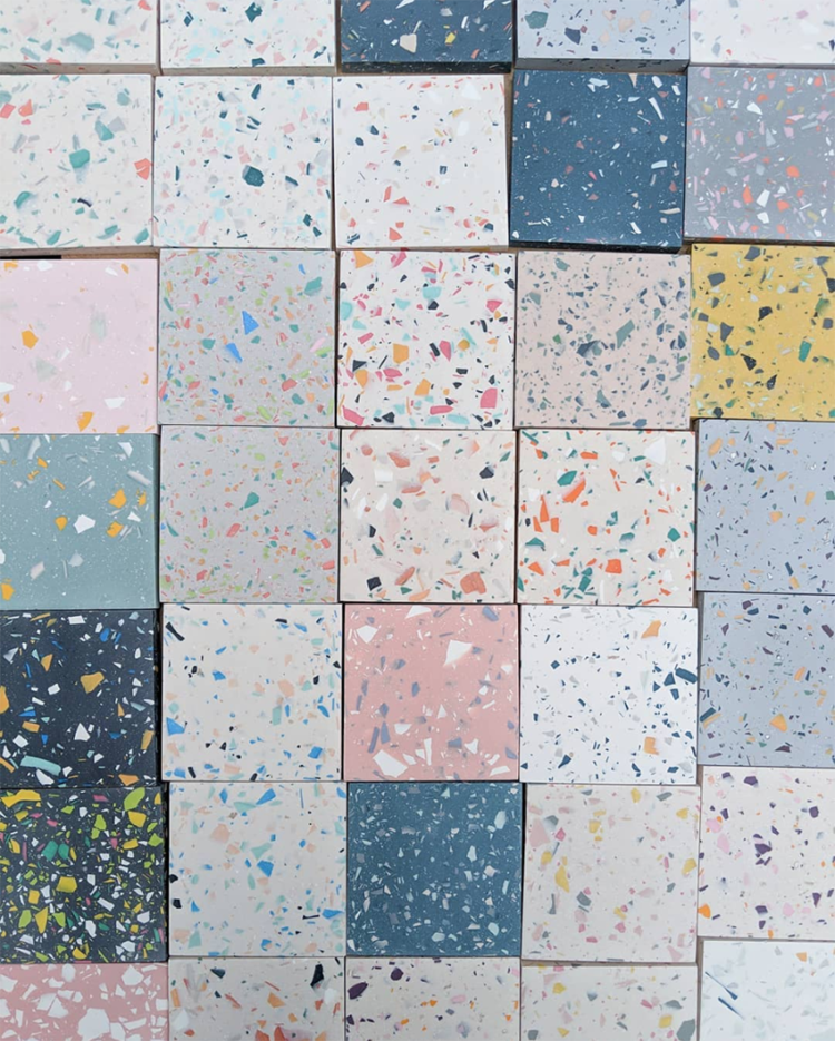 Terrazzo patterns by Katie Gillies surface design