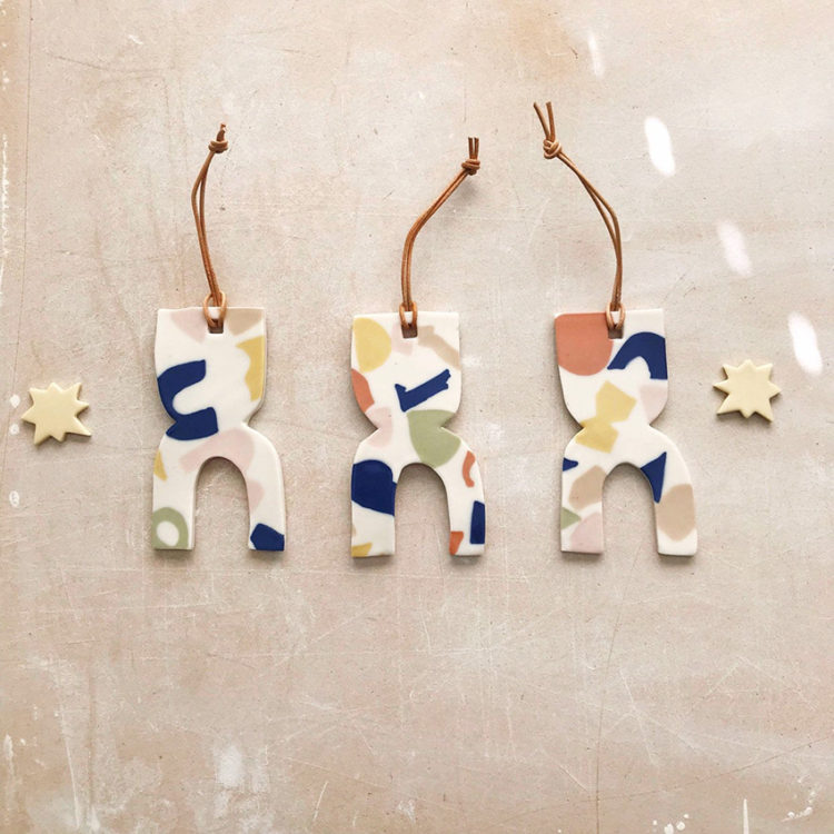 terrazzo ornaments by hernameismud