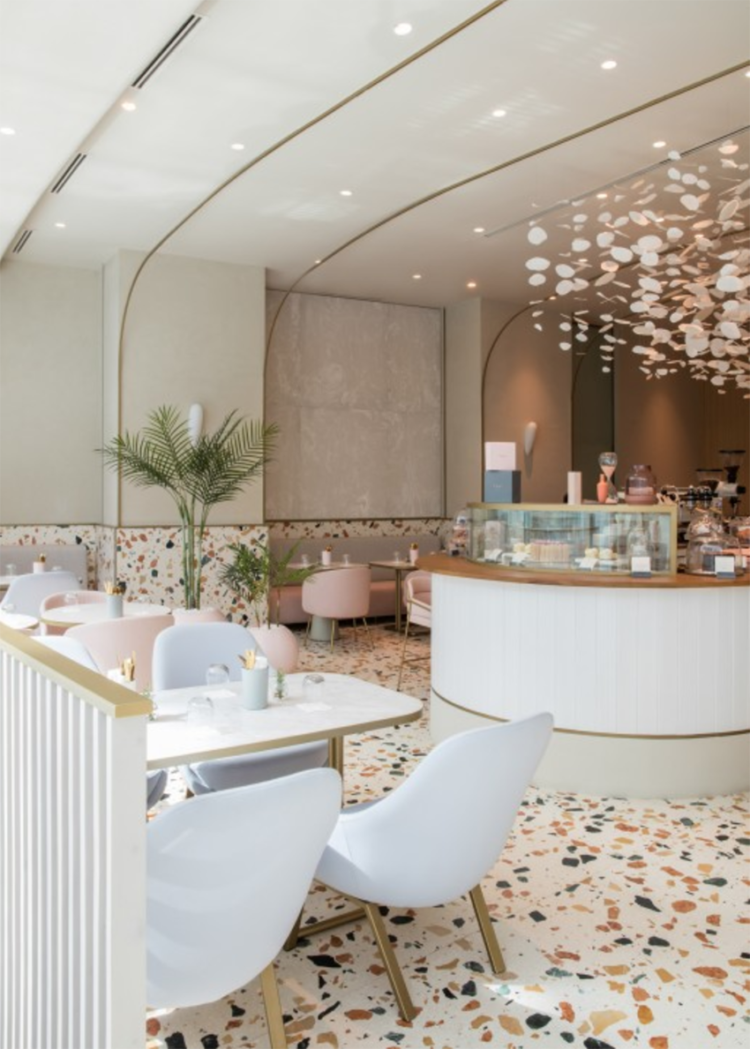 Italian terrazzo by H2R inside cafe at The Dubai Mall