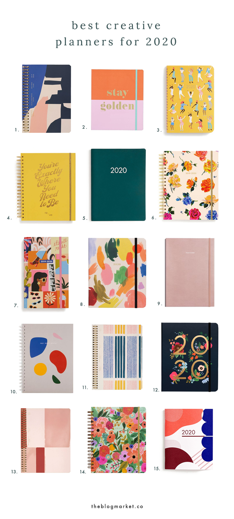 Best Monthly Planner 2020 Best Creative Planners for 2020   The Blog Market